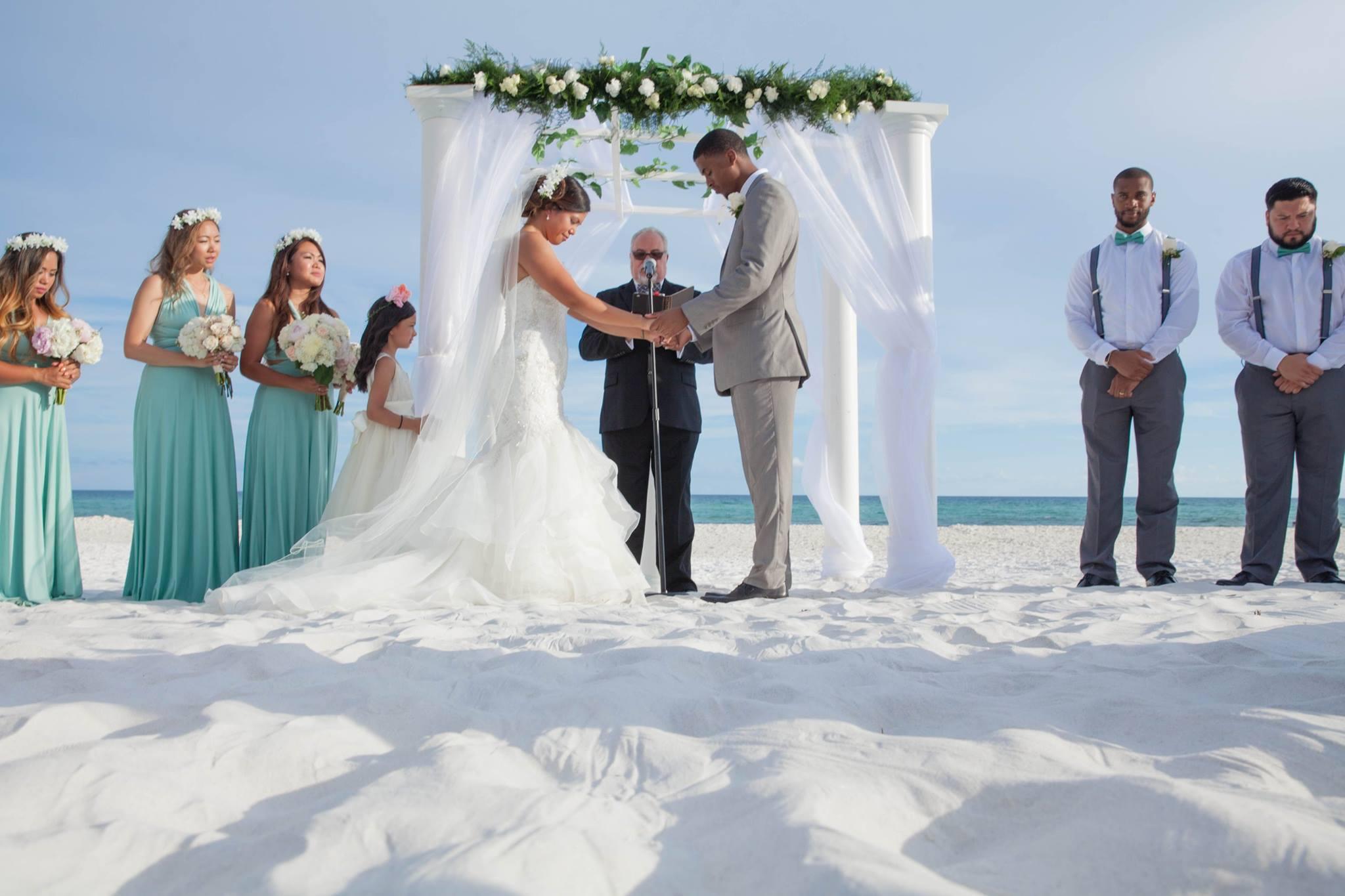 Customized Destin Florida beach wedding package